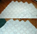 Hand Made White Crochet Bed Spread Cover