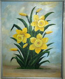 Daffodil Acrylic Painting by Penner