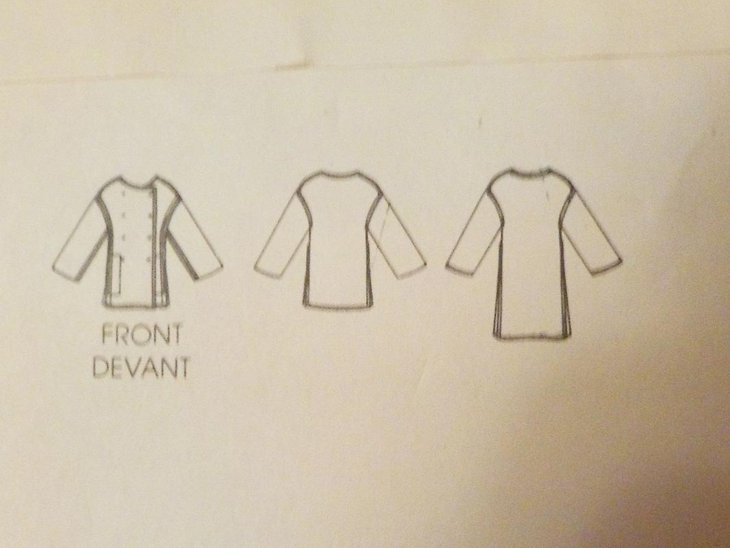 Vogue  Geoffrey Beene  Pattern Misses    Coat sz small  Uncut 2873