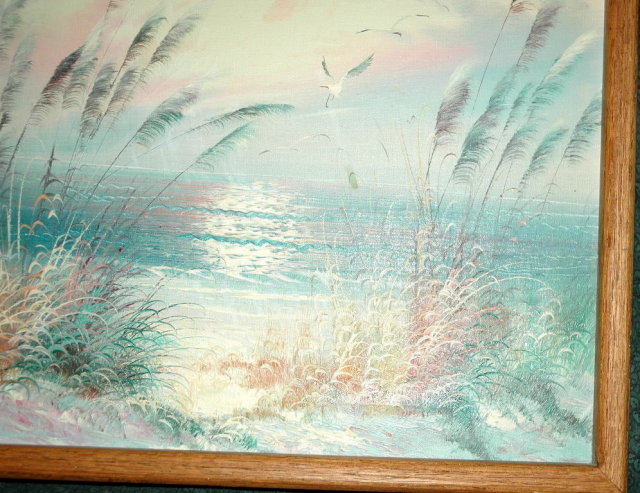 Seashore Misty Dawn Oil on Canvas Painting