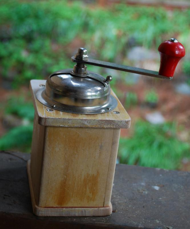 Vintage German Armin Trosser Wooden Coffee Grinder