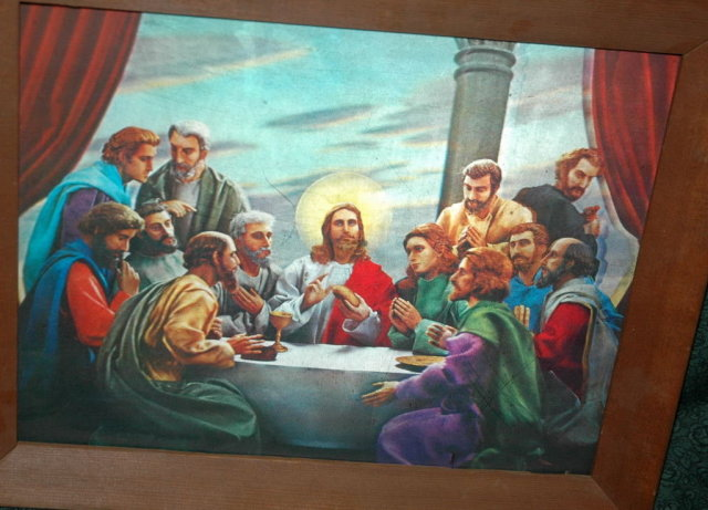 Last Supper Print in Lenticular  3-D