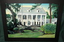 Ink Painting  Southern Mansion & Downed Tree