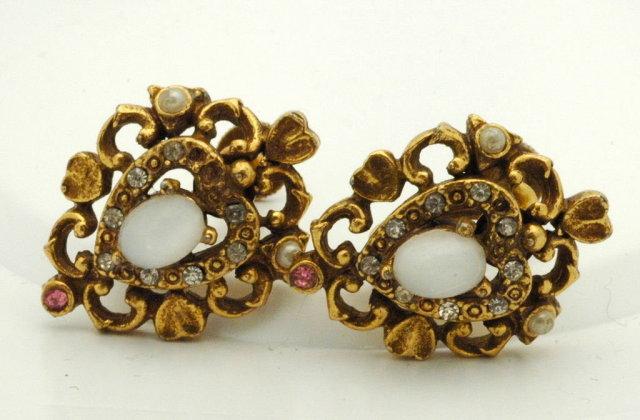 Coro Moonstone Earrings