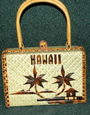 Vintage Hawaiian Souvenir woven Box Purse
