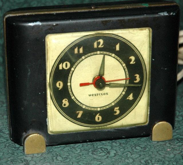 Vintage Art Deco Electric Westclox Alarm