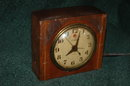 Old Telechron Mission Oak Electric Alarm Clock