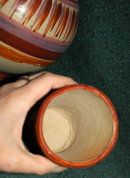 Old Mexican Pottery Water Vessel with Cup*Price Reduced!*