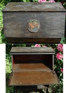 Rustic Early American Pine Slant Front Desk