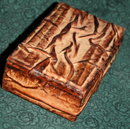 Wrinkled Leather Trinket or Cigarette Box