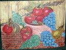 Fruit Still Life Oil Painting signed Sacchette