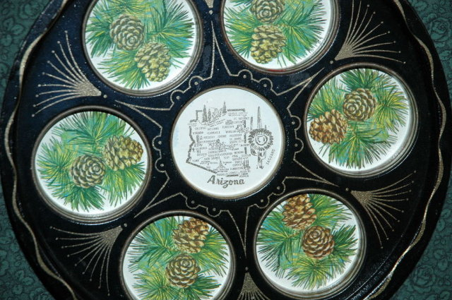 Arizona Souvenir Metal Drink Tray 50's 60's