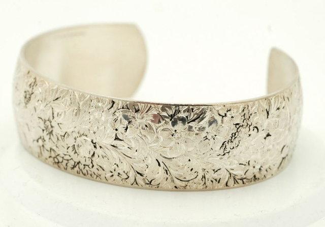 Victorian Hayward Sterling Silver Cuff Bracelet