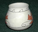 S.W. Native American Pottery Vase -signed , dated '76