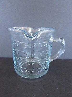 Vintage 3 Spout Fire King 8 Ounce Measuring Cup
