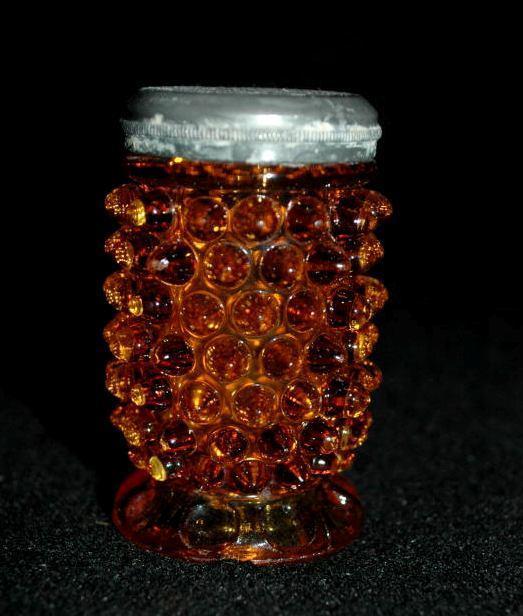 Fenton Amber  Glass Hobnail  Salt   Shaker, single