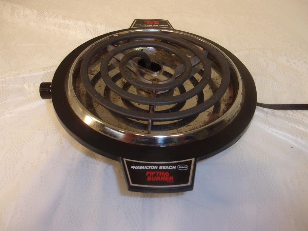 Vintage Hamilton Beach Fifth Burner  Hot Plate Portable Cook Top Burner
