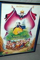 Disney Snow White Movie Poster Framed  behind glass