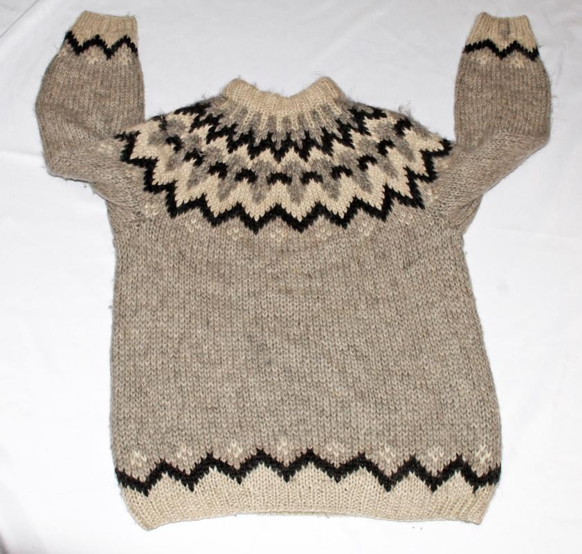 Icelandic 100% Pure New Wool Sweater by Sambad of Iceland sz Large