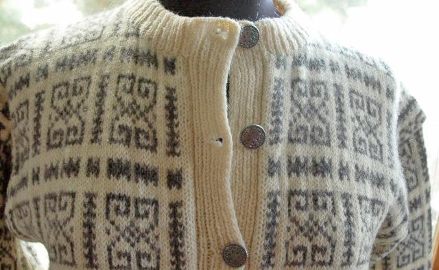 Husfliden  Steinkjer Norwegian Cardigan sweater hand made in Norway 100% wool