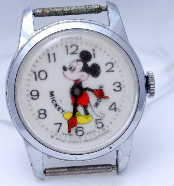 Mickey Mouse Watch Value >> Early Bradley Mickey Mouse Swiss Watch