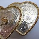Montana Silversmith  Triple Heart Belt Buckle