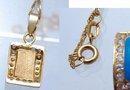 18K Gold Diamond Enamel Pendant Necklace