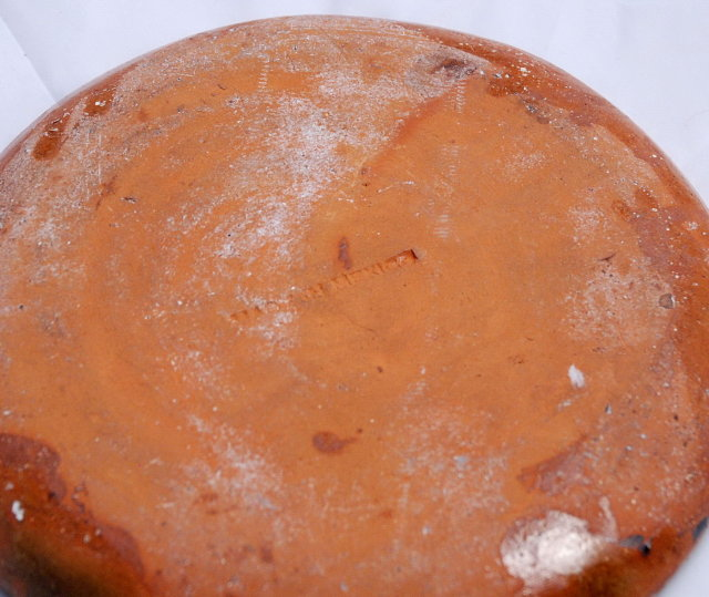 Old Mexican Earthenware Pottery Plate - jahuete *Price Reduced!*