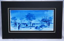 African Art Watercolor  in blues/signed Ngabo *Price Reduced!*