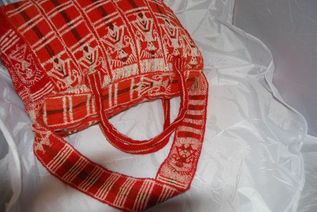 Vint Guatemalan  Wool Travel Tote Bag Satchel*REDUCED PRICE*