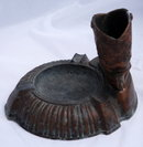 Bronze Cowboy Boot Cigarette Holder & Ashtray  * PRICE REDUCTION*