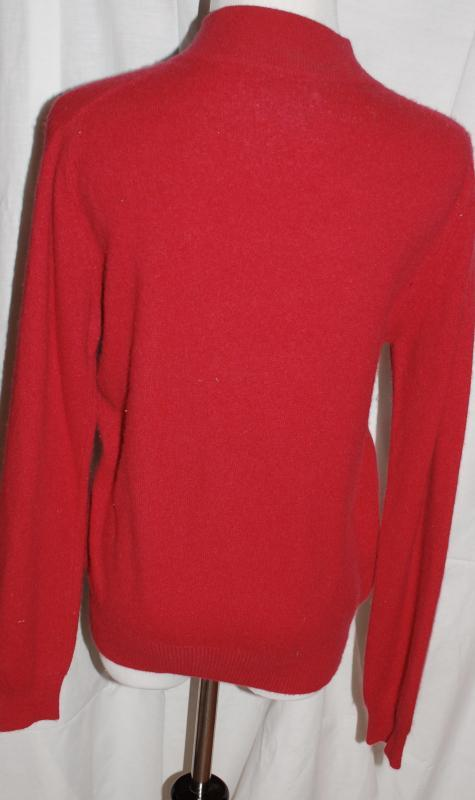Red Cashmere Sweater , Charter Club size Small