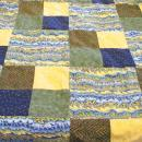 Frayed Edge Rag Throw Quilt 32x46