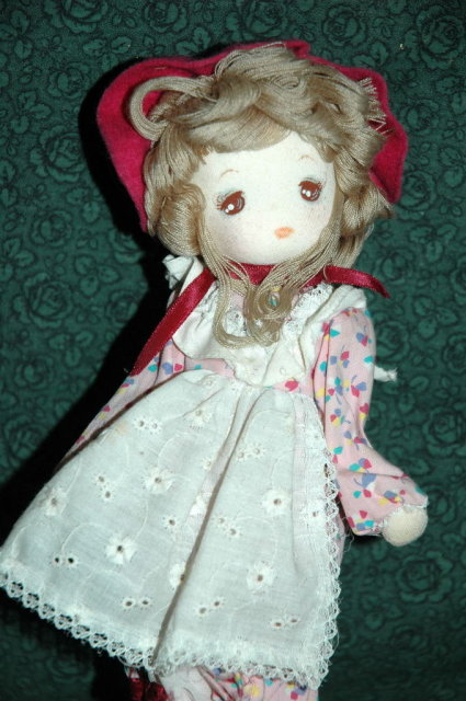 Made in Japan Bradley Type Cloth Doll Music Box