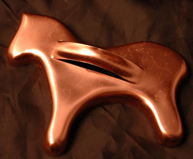1950's Cooper colored Aluminum Horse Cookie Cutter