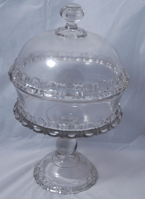 Pedestal Crystal Glass Compote  with dome lid  *Price Reduced!*