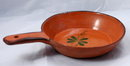 Old Mexican FOLK ART Terra cotta Pottery Pan, Dish with handle **PRICE REDUCTION**