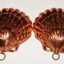 Pair of Copper, Tin Lined Gelatin or Food Molds with Wall Hanging Rings.