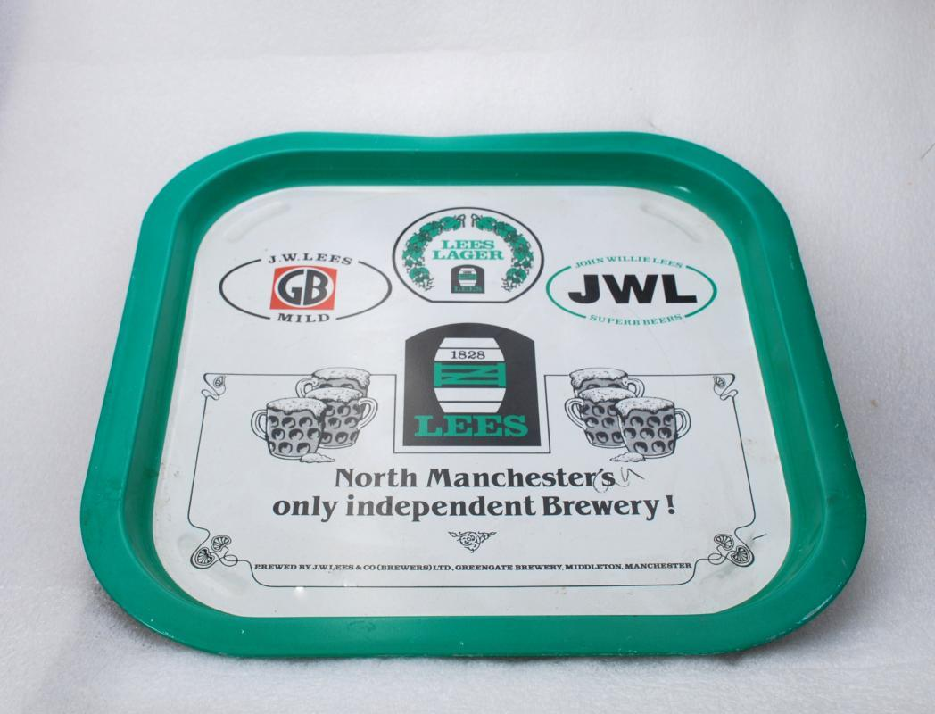 J.W.Lees & Co (Brewers) Ltd tin tray  Beer Tray, Tip Tray.