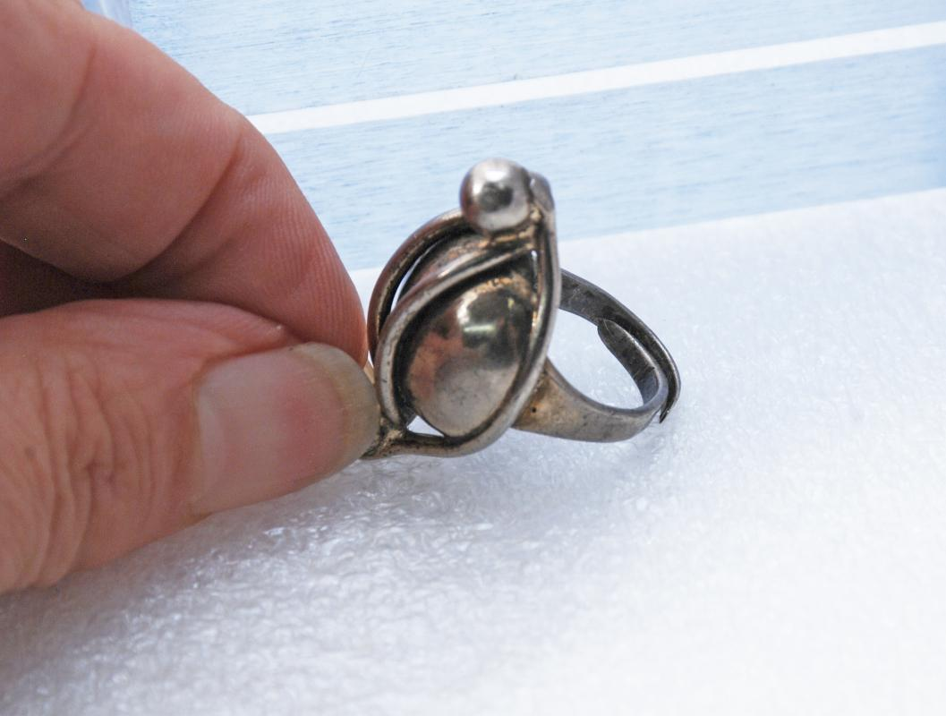 Modernist Napier Sterling Silver Ring Chunky Dome Rare Vintage Statement Ring