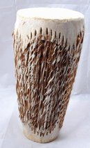 African Animal Hide  Shaker Drum  12