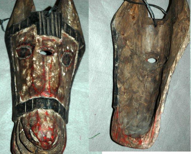 Guatemala Mask Guatemalan Carved Wood Horse Mask- OLD!
