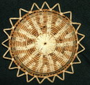 Very Large Beautiful  Old Hand Crafted Flat  Grass Basket  * PRICE REDUCTION!*