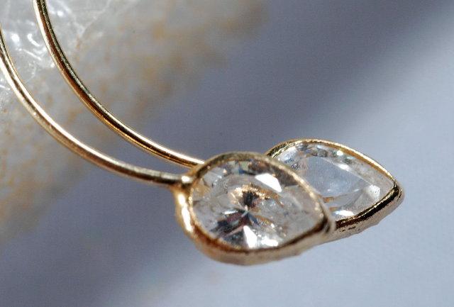 14K Gold Achroite Earrings Rare 1.1 grams