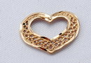 14K Gold Heart Charm .5 grams