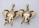 Brass Elephant Earrings ( vintage & large)