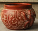 Native Amazonian Pottery Bowl hand made Rainforests of Brazil  *PRICE REDUCTION!*