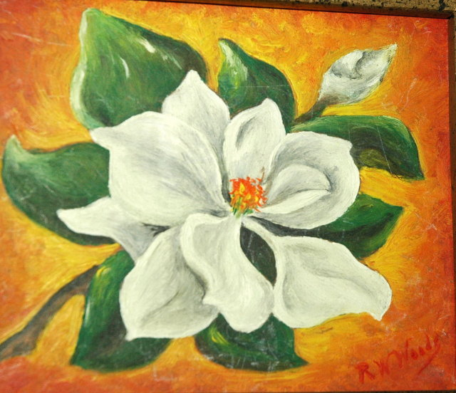 Oil Painting,  Eastern Star Lily by R.W. Woody