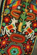 Huichol Indian Beaded Folk Art Mask