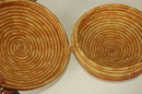 Coiled Native Basket, Large Woven Grass  Purse Basket  Price Reduction !!